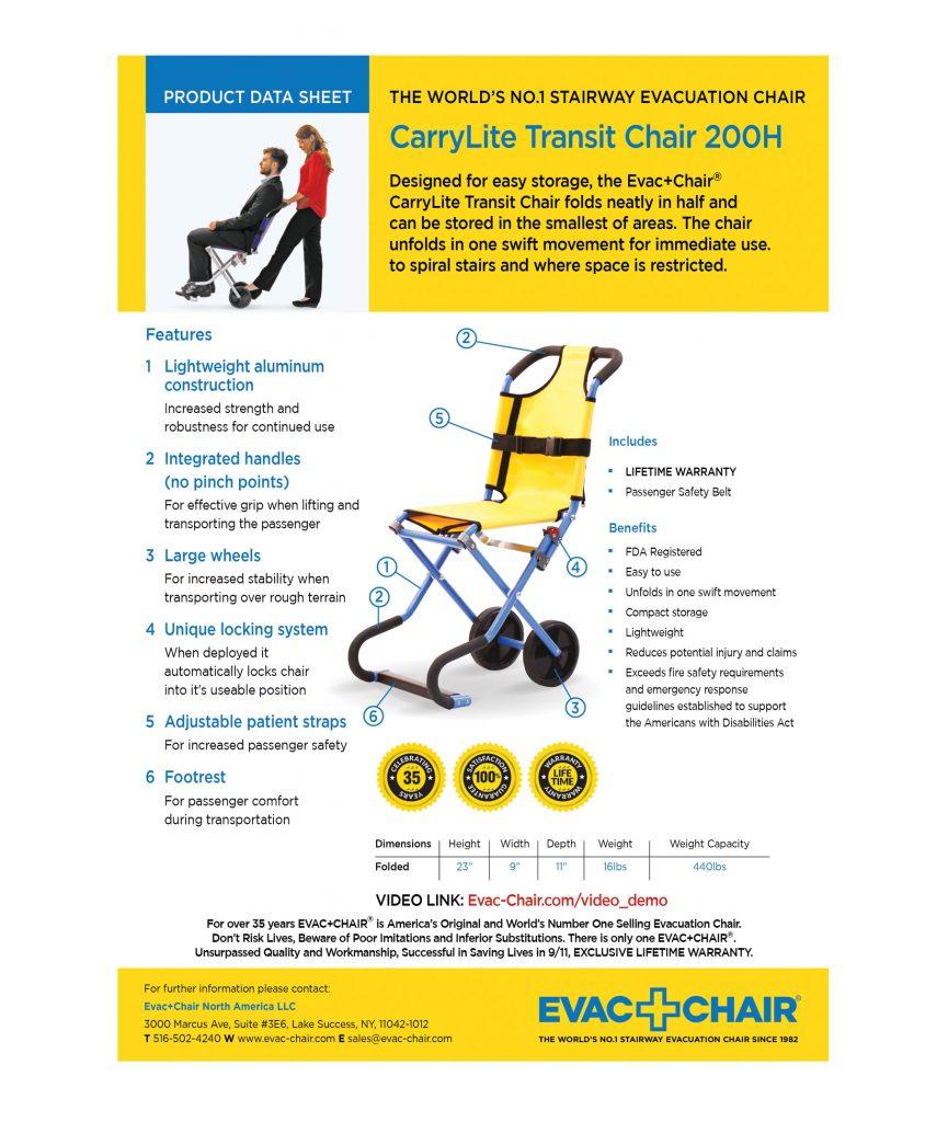 CarryLite Transit Chair   Lightweight Transit Wheelchair